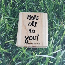 Stampin' Up! Hats Off To You! 1998 Rubber Stamp Good Job Congrats Graduation  - $9.40