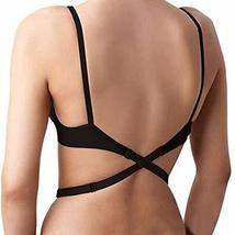 AOTTIC Low Back Bra Converter Extender for Party Backless Dresses (Black)