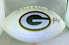 Brett Favre / Autographed Green Bay Packers Logo White Paneled Football / Coa - $158.35