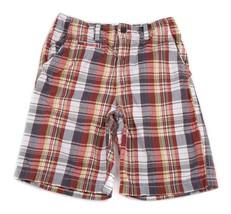 GAP Kids Plaid Cotton adjustable waist Shorts 12 14 - $7.91
