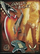 The Dean Cadillac USA Time Capsule Series Caddy guitar ad 8 x 11 advertisement - $4.50