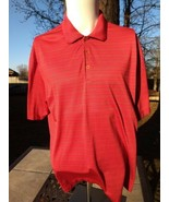 Mens red Nike Golf Dri Fit Polo short sleeve shirt LARGE Free Fast Shipping - $10.77