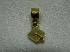 14K Gold Authentic Pandora Graduation Cap Dangle Charm Bead 585 ALE 7502... - $249.00