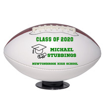 Personalized Custom Class of 2020 Graduation Regulation Football Green Text - $59.95