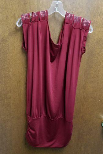 LUPSONA DESIGN CLOTHING SIZE XXL 3 STRAP PER SHOULDER BLING RED
