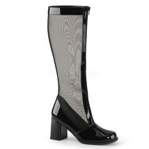"FUNTASMA Gogo-307 Series 3"" Block Heel Knee-High Boots - Black Str Paten... - $39.95"