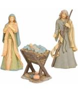 Holy Family Nativity Figurine 6004076 Mary Joseph Baby Jesus Manger Resin - $69.30