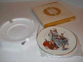 "1979 Norman Rockwell 8"" Gorham Fine China Christmas Plate ""Santa's Gelpers"" Nice - $17.56"