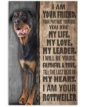 I Am Your Rottweiler Poster, Dog Poster, For Decor Bedroom, Gift For Dog... - $21.75