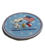 "Peanuts Melamine Child's 8"" Plate--Support Our Troops - $5.50"