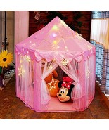 otmake Princess Tent Girls Play Tent with Cute Star Light String , Large... - $42.72
