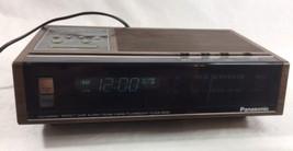 Vtg Panasonic AM/FM 2-Band Fluorescent Clock Radio Model RC-6130 - $29.69