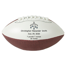 "Personalized Custom Mini 9"" Football Blue Stars Birth Announcement Gift - $34.95"