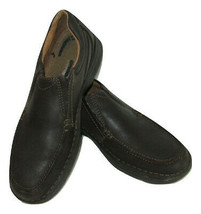 Nunn Bush Shoes Loafers Lites Energy Transfer Brown Leather Mens Size 9.5 - $24.72