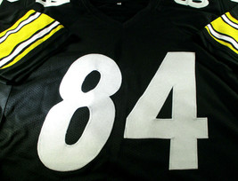 ANTONIO BROWN / AUTOGRAPHED PITTSBURGH STEELERS CUSTOM FOOTBALL JERSEY / COA image 2