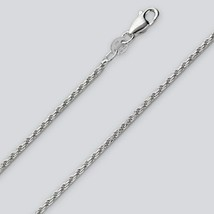 Rope Chain Bracelet - 7 inch* (1.5mm* wide) - Sterling Silver - Made Italy - $7.73