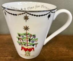 "Lenox Merry & Bright A Time For Trimming Christmas Holiday Porcelain 4"" Mug - $14.95"