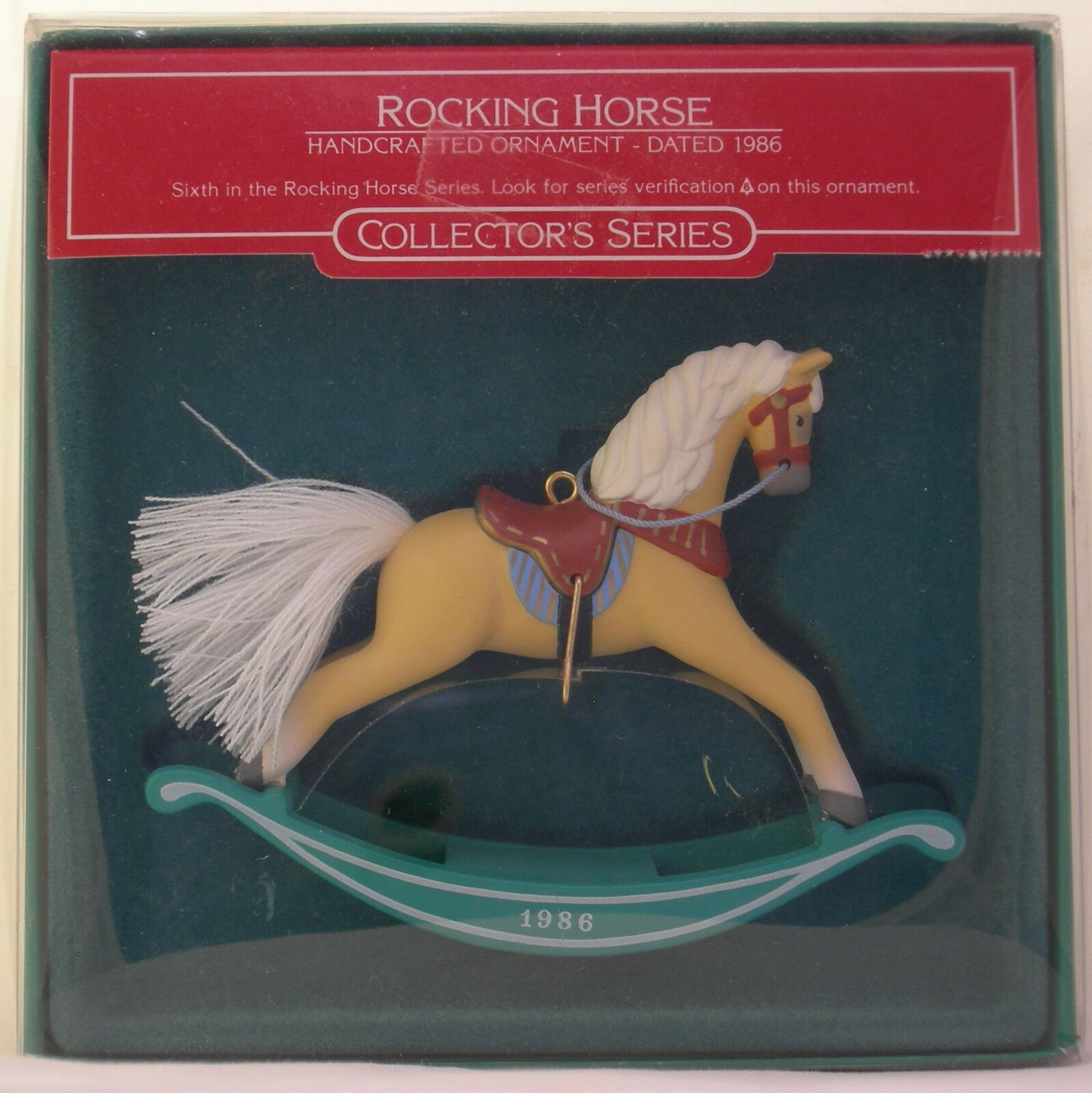 "Primary image for Hallmark ""ROCKING HORSE"" DATED 1986 Sixth in the Rocking Horse Series"