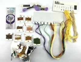 Boye Needlepoint Needles + Sampler Cross Stitch DMC Thread White Yellow ... - $12.19