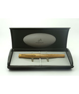 Vintage Parker 105 14K Rolled Gold Bark Pen 1979-82 + Gift Box Free EMS ... - $482.79