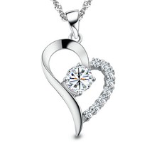 You Are the Only One in My Heart Sterling Silver Pendant Necklace - $83.09