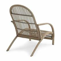 Rustic Cozy Cottage Boho Natural Finish Wicker Adirondack Style Patio Chair image 3