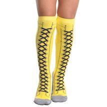 Angelina 12 Pair Dozen Girls Kids Toddler Lace Up Sneaker Knee High Socks 2538 image 4
