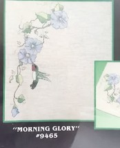 Morning Glory Transfers Flowers Hummingbird Vtg Home Decor Shaded Crafts... - $8.90