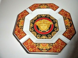 "Versace Porcelain Medusa Ashtray 9"" - $325.00"