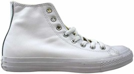 Converse Chuck Taylor All Star Leather Hi White Monochrome 1T406 Men's S... - $22.79