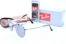 Ray Ban Sol Metal Redondo RB 3447 029 / K3 Gunmetal con / Gris Espejo Plata - $344.10