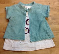 First Impression Baby Girls' 2-Piece Tunic, Shrug, Slate Heather, Size 12M - $10.88