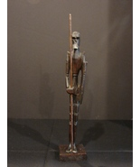 Hand Carved Don Quixote w/Spear 15 Inch Wood Carving  - $11.99