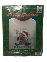Candamar Designs, Christmas Love Me Love My Cat Wearable Cross Stitch Kit - $10.47
