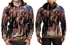 bon jovi blaze of glory Hoodie Zipper Fullprint Men - $46.80
