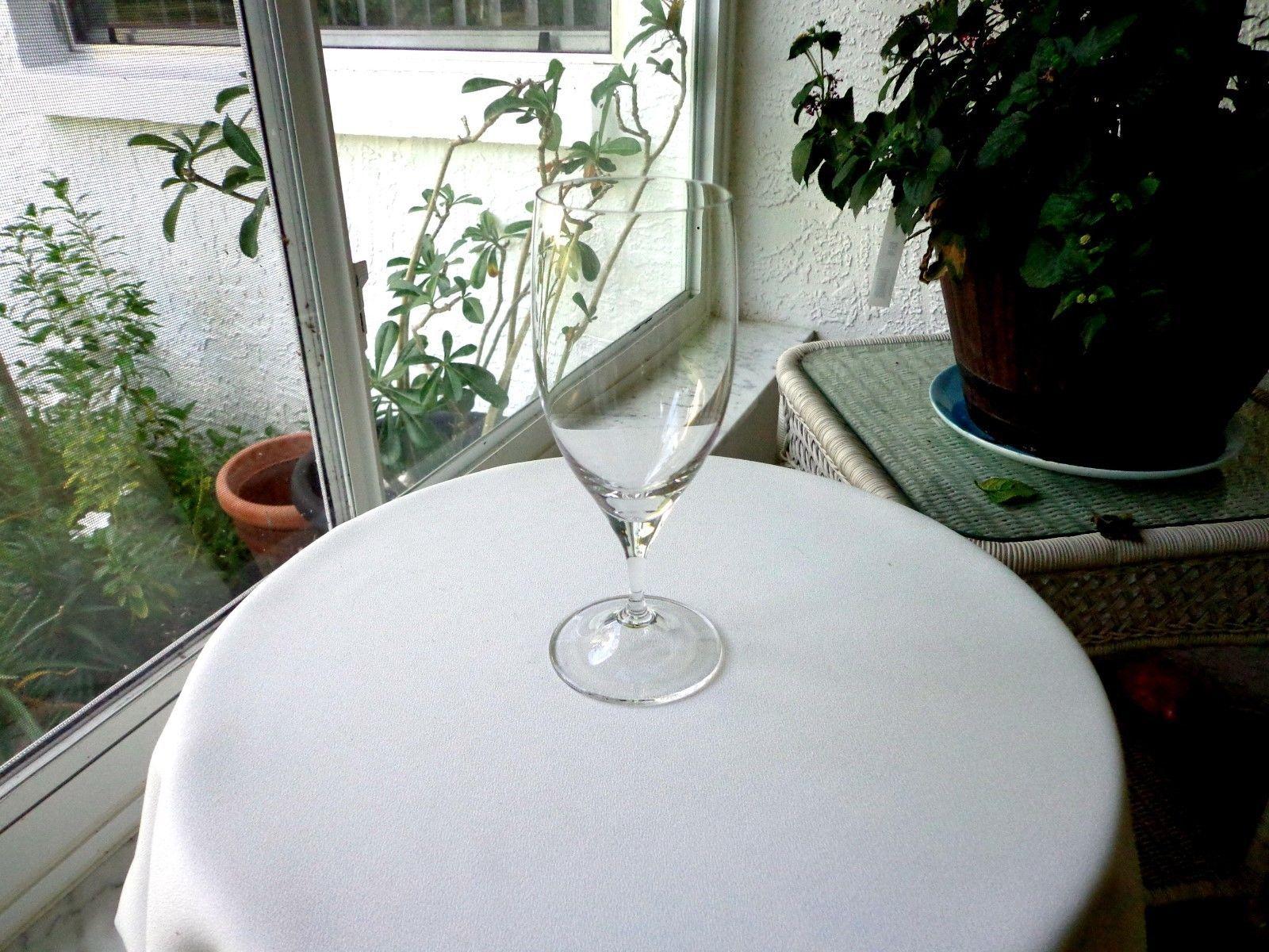 """Nachtmann Clear Crystal Wine Goblet 8"""" Tall"""