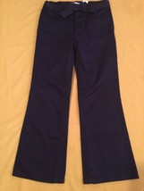 Girls New Place Size 5 pants uniform blue stretch pants with belt - $9.75