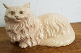 Vintage Large Ceramic Cat Kitty Mold Statue Figure - $75.00