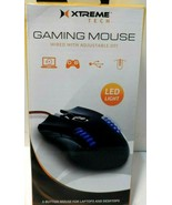 XTREME Tech Gaming Mouse wired with adj. dpi LED light 6 button NEW - $19.33