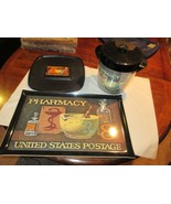 Rx ,Pharmacy ,  Postage Stamp , Ice Bucket , Tray , Cup Serve Tray , The... - $129.95