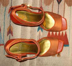 Open 9 Sz Heel Linea Moire MINT Toe Woven Orange Paolo Burnt Silk 5 anw664qOCp