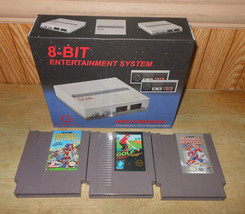New Retro NES Nintendo Console Set with 3 Games NES Football Golf Hockey - $58.03
