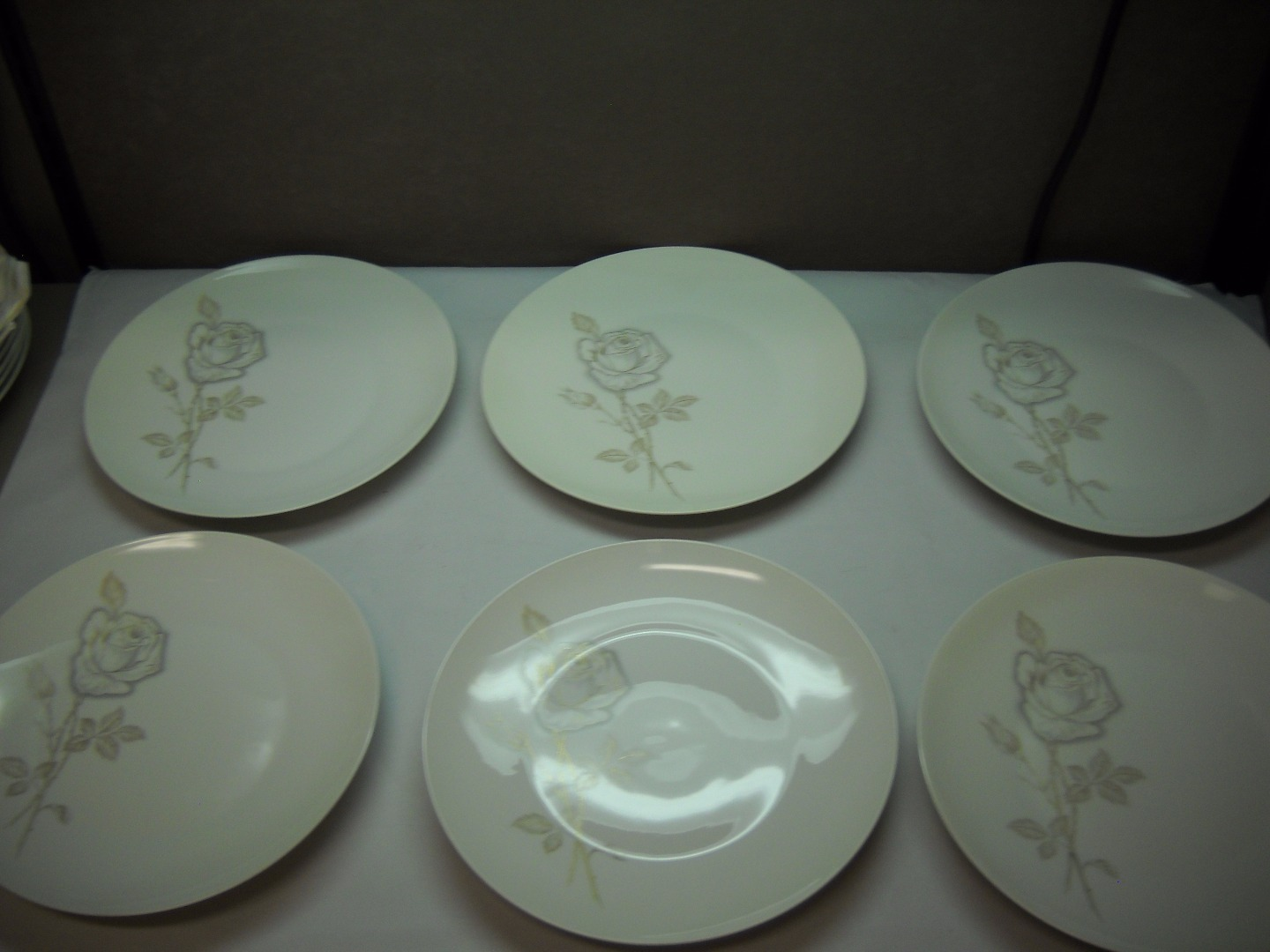 Primary image for SET OF 6 Dinner Plates from ROSENTHAL China with CLASSIC ROSE Pattern LOEWY
