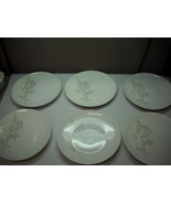 SET OF 6 Dinner Plates from ROSENTHAL China with CLASSIC ROSE Pattern LO... - $34.64