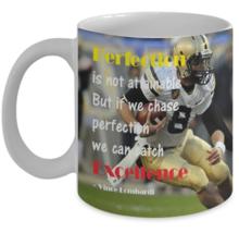 Inspirational Mug /Perfection is not attainable... / Mug w/ Image 11oz - $18.39 CAD