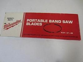 "Milwaukee Portable Tape Saw Blade 44-7/8"" x 1/2"" x .02 10/14 TPI 48-39-0550 - $9.89"