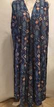 LuLaRoe Women Joy Open Front Cardigan Duster Vest Geometric Sleeveless S... - $29.99