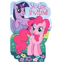 8 My Little Pony Friendship Birthday Party Invitations Invites plus Envelopes - $3.95