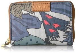 Fossil Rfid Mini Zip Card Case Wallet (Gray Multi) - $23.76