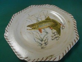 """Great Collector Plate .LENOX """"Riverwood"""" Brook Trout by Artist Catherine McClung - $14.44"""